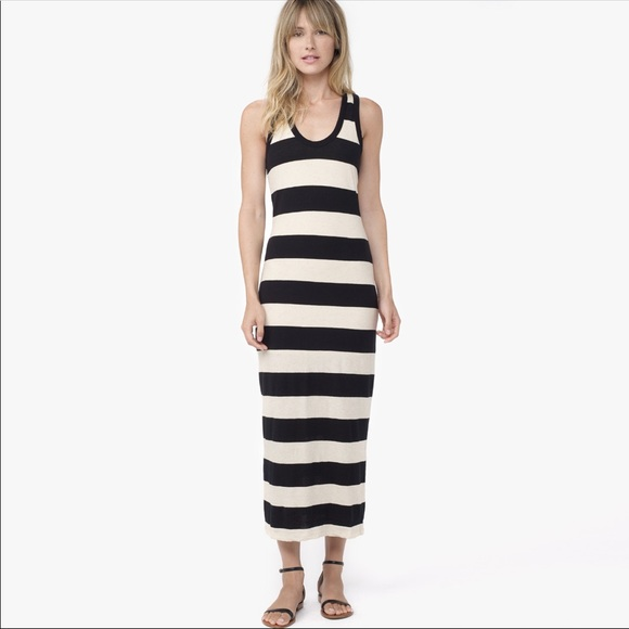 83a0ba6a49 James Perse Dresses   Skirts -  JAMES PERSE  Linen   Cotton Stripe Maxi  Dress